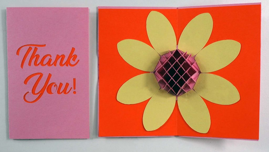 Download Pop-up Flower Thank You Card File for the Cricut or ...