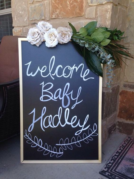 Welcome Baby Chalkboard Sign