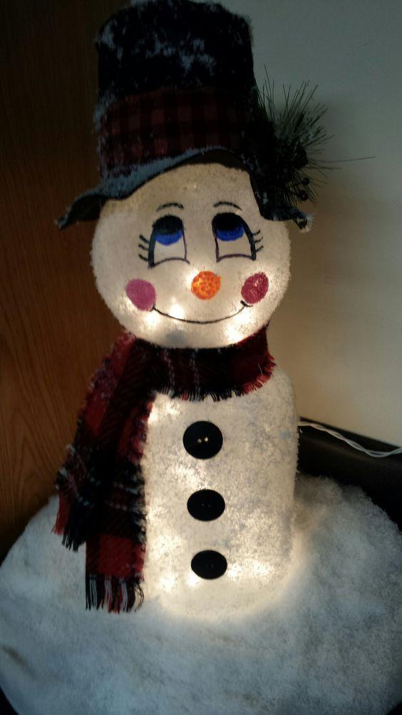 DIY Pickle Jar Snowman