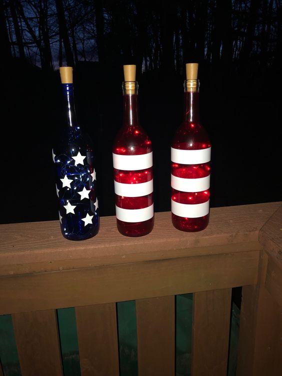 July 4th Wine Bottles