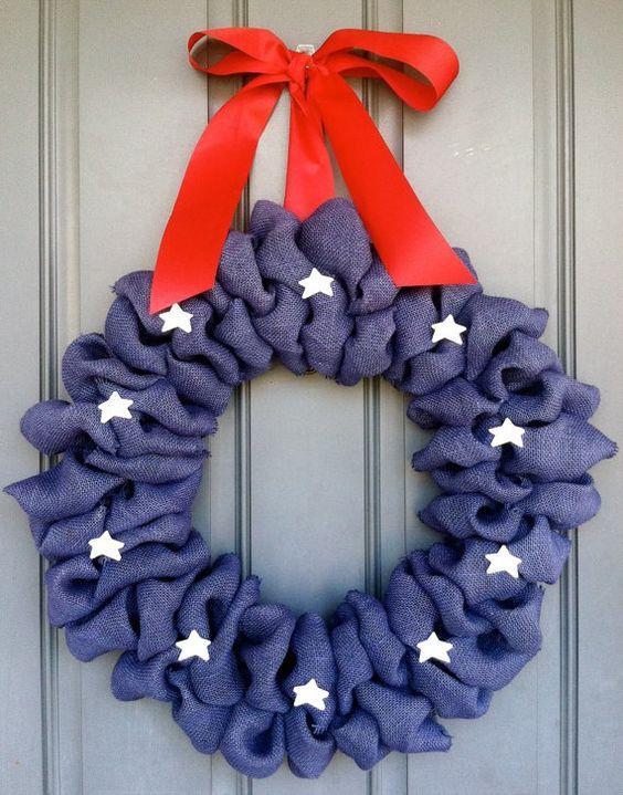 July 4th Wreaths for Front Door