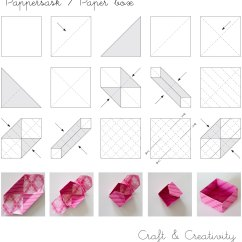 Folding Origami Box Diagram Kenmore Washer Model 110 Dagens Pyssel Pappersaskar  Craft Of The Day Paper
