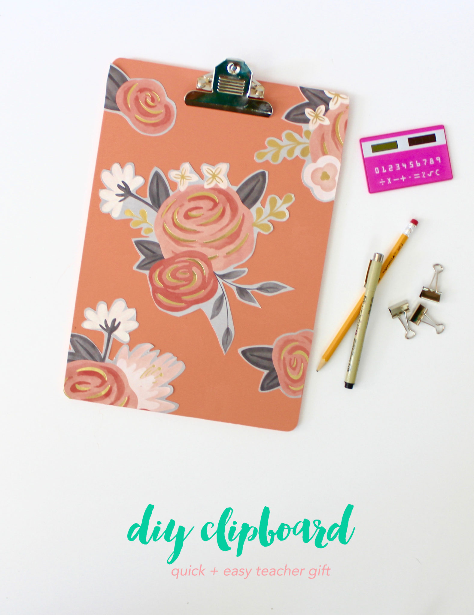 Back To School Gifts For Teachers Diy Clipboard