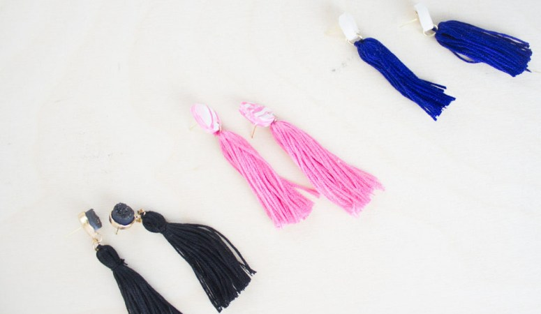 Easy Diy Tassel Earrings Craft Tell