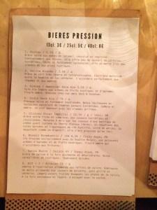 Beer List: Le Triangle Paris