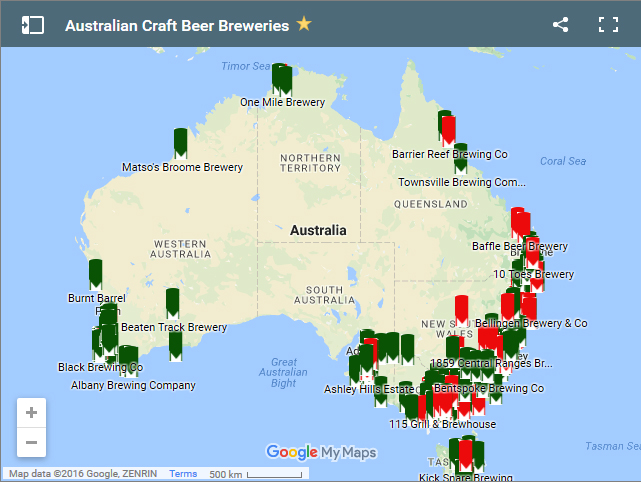 Map Of Yenda Australia.New South Wales Craft Beer Breweries