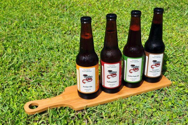 White Lies Brewery, Brisbane tasting paddle