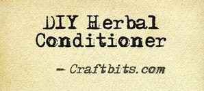 DIY Herbal Conditioner