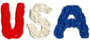 Patriotic USA Crochet Letters