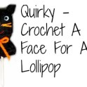 Cat Lollipop Cover: Crochet Halloween