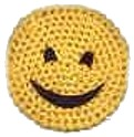 Crochet A Smiley Face Coaster