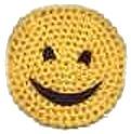 Crochet A Smiley Face Coaster