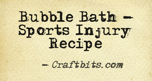 sports injury bubble bath