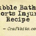sports injury bubble bath