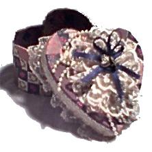 Victorian Keepsake Heart Box