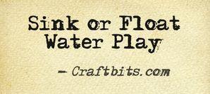 Sink or Float Water Play