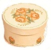 Painted Rose Trinket Box
