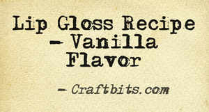 Lip Gloss – Vanilla