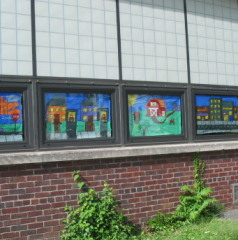 classroom window. Classroom Window Painting