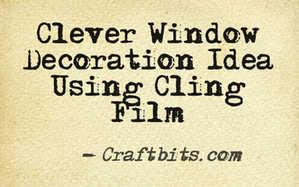 cling film decorations