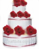 Hand Towel Wedding Cake Centrepiece
