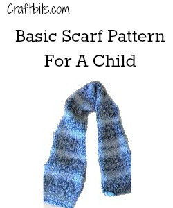 Basic Scarf Pattern For A Child