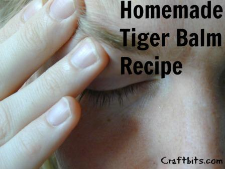 Homemade Tiger Balm