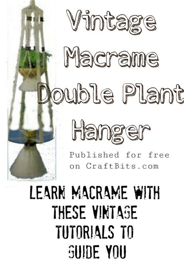 Macrame Double Hanger