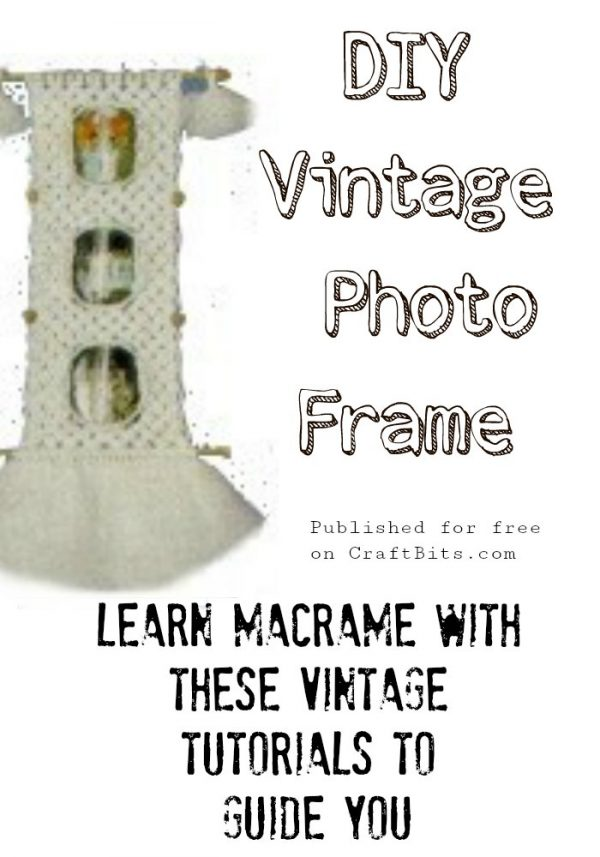 Macrame Picture Holder