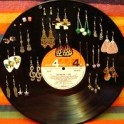 Vinyl LP Record Earring Holder