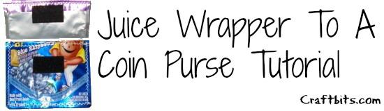 Juice Wrapper Coin Purse