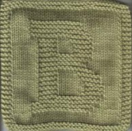 Knitted Letter Cloth – B