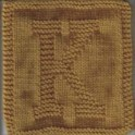 Knitted Letter Cloth - K