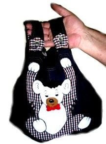 No Sew Baby Overalls Purse