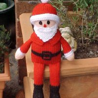 Knitted Santa Shelf Sitter