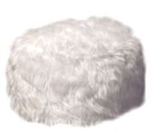 Fluffy Dog Pouffe