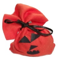 Halloween Treat Bag Pumpkin-Red