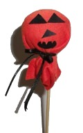 Red Pumpkin Lollypop Cover