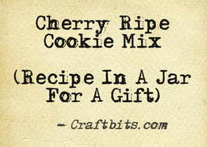 Cherry Ripe Cookie Mix