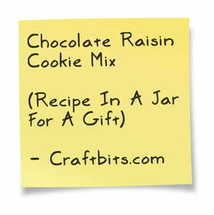 Chocolate Raisin Cookie Mix