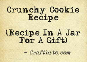 Crunchy Cookie Recipe