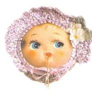 Doll Face String Holder
