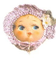 Doll Face String Holder