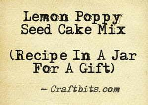Lemon Poppy Seed Cake Mix