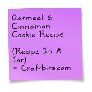 Oatmeal & Cinnamon Cookie Recipe