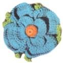 Crochet Flower - Blue Pansy