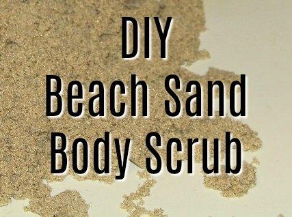 DIY Beach Sand Scrub