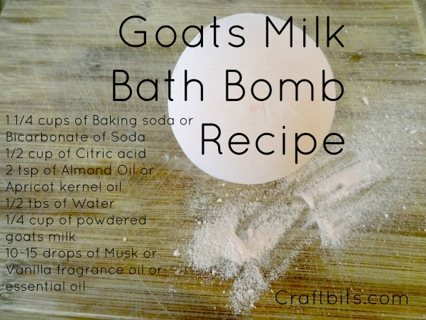 Bath Bomb – Goats Milk
