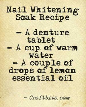 nail whitening recipe