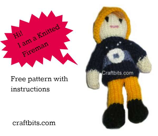 Pocket Fireman: A knitted pattern